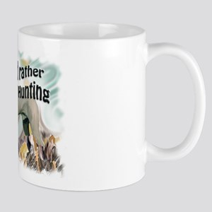 weimaraner and pheasant Mug