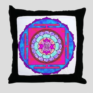 Batik Sri Yantra Throw Pillow