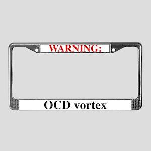 OCD vortex License Plate Frame