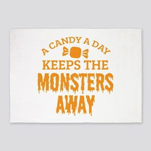 Halloween Shirt Candy A Day Keeps M 5'x7'Area Rug