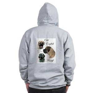 Old English Mastiff Zip Hoodie