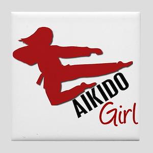 Aikido Girl Tile Coaster