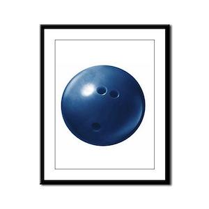 Bowling Ball Framed Panel Print