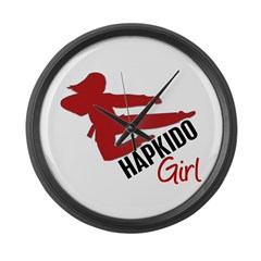 Hapkido Girl Large Wall Clock