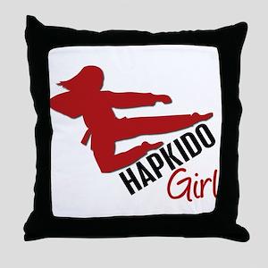 Hapkido Girl Throw Pillow