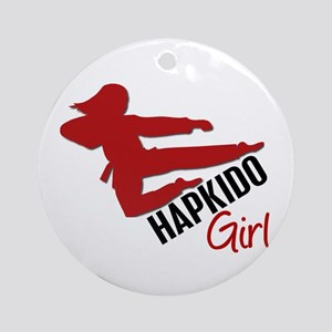 Hapkido Girl Ornament (Round)