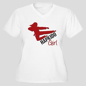 Hapkido Girl Women's Plus Size V-Neck T-Shirt