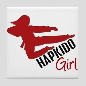 Hapkido Girl Tile Coaster