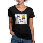 product name Women's V-Neck Dark T-Shirt