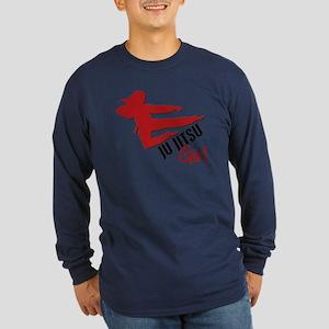Ju Jitsu Girl Long Sleeve Dark T-Shirt
