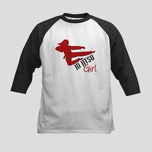 Ju Jitsu Girl Kids Baseball Jersey