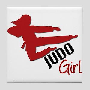 Judo Girl Tile Coaster