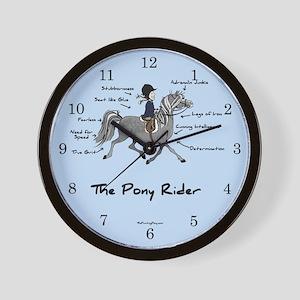 Pony Rider Equestrian Wall Clock