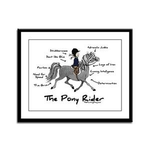 Pony Rider Equestrian Framed Panel Print