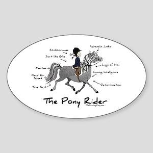 Pony Rider Equestrian Oval Sticker