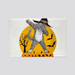 Dabbing Cat Funny Halloween T Shirts Magnets