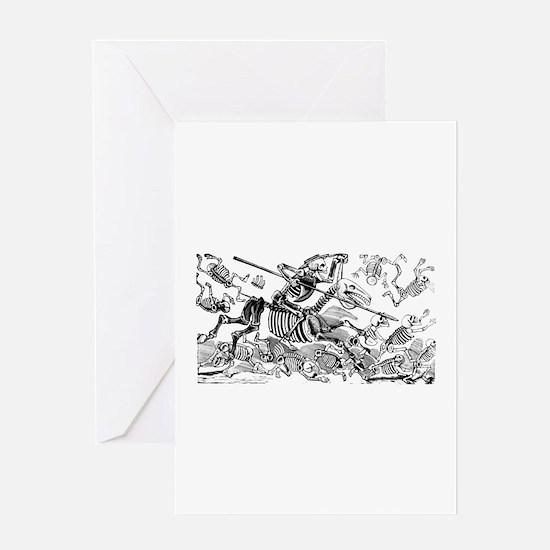 Calavera Don Quijote Greeting Card