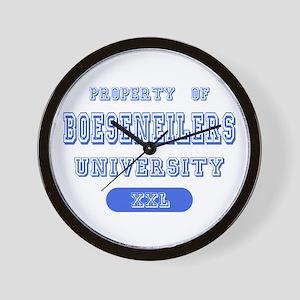 Property of Boseseneilers University Wall Clock