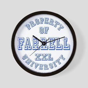 Property of Farrell University Wall Clock