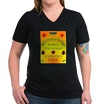 Composting Women's V-Neck Dark T-Shirt