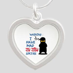 I have mad Jiu-Jitsu skills Silver Heart Necklace