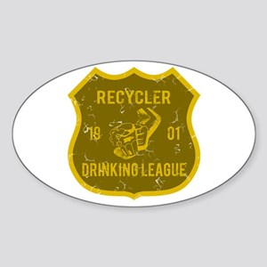 Recycler Drinking League Oval Sticker