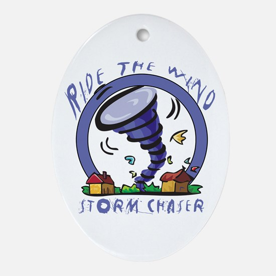 Ride the wind Oval Ornament
