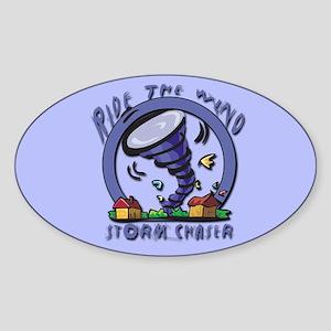 Ride the wind Oval Sticker