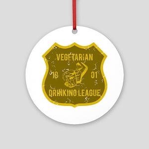 Vegetarian Drinking League Ornament (Round)