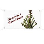 Season's Greetings - Holly Banner