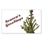 Season's Greetings - Holly Rectangle Sticker 10 p