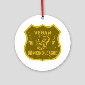 Vegan Drinking League Ornament (Round)