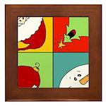 christmas fun Framed Tile