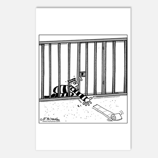 Toilet Paper Rolling Away in Prison Postcards (Pac