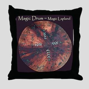 Shaman Drum Throw Pillow