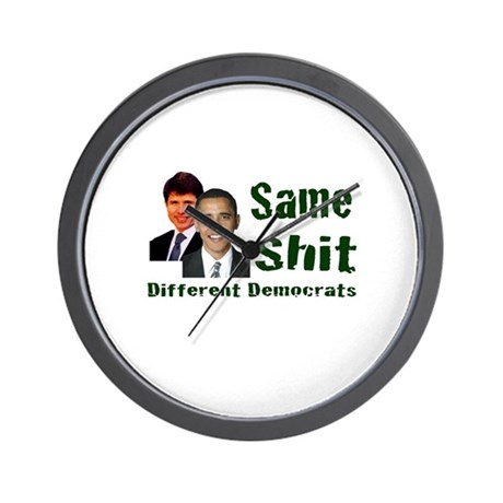 Same Shit Different Democrats Wall Clock