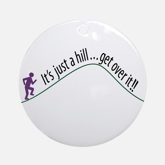 Get Over It (Running) Ornament (Round)