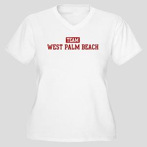 Team West Palm Beach Women's Plus Size V-Neck T-Sh