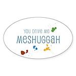 Meshuggah Oval Sticker (10 pk)