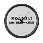 Shalom Motherf**cker Large Wall Clock