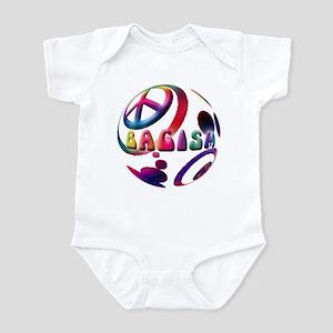 Abstrract Bagism Peace Coexis Infant Bodysuit