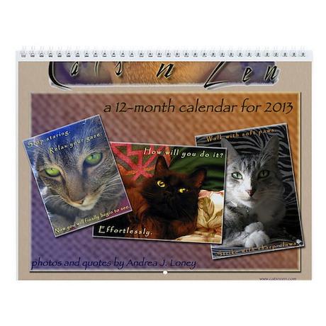 Cats N Zen Wall Calendar By Catsnzen