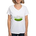 I have a Kosher Pickle Women's V-Neck T-Shirt