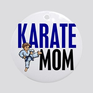 Karate Mom (OF BOY) 3 Ornament (Round)