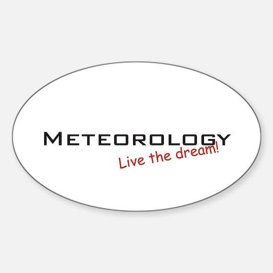 Meteorology / Dream! Oval Decal