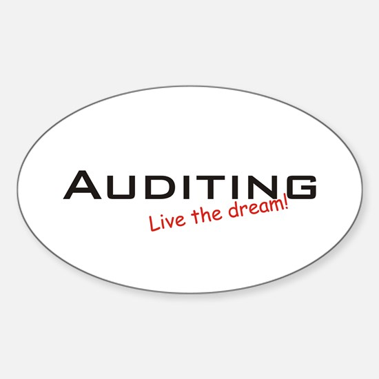 Auditing / Dream! Oval Decal