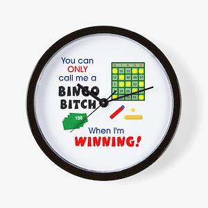 Bingo Bitch #1 Wall Clock