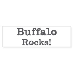Buffalo rocks Bumper Sticker (10 pk)
