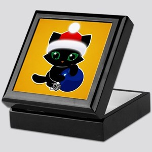 Bucky's Christmas Ball - Gold Keepsake Box