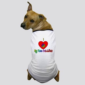 I Heart My Two Daddies Dog T-Shirt